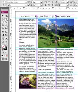 Como Insertar fotografías en páginas con Indesing