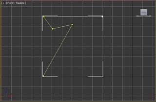 Línea que forma el perfil de la mesa en 3ds max