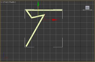 Línea con volumen rectangular en 3ds max