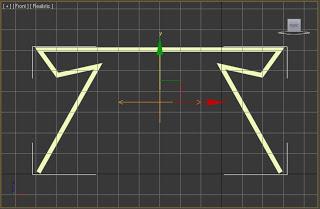 Simetría aplicada a un objeto en 3ds max