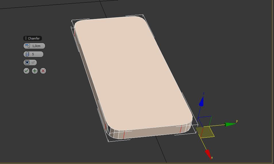 Caja base para el modelo en 3ds max del teléfono iphone5.