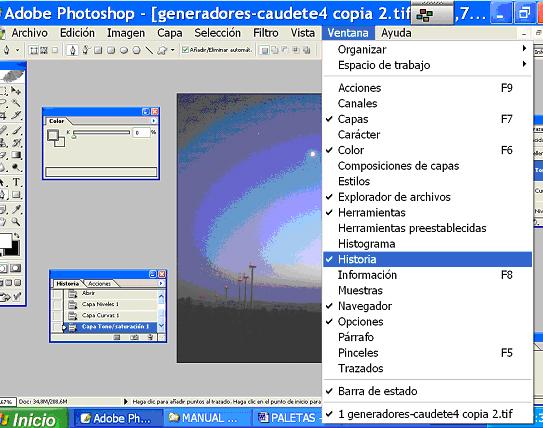 Descubre algunas funciones en las ventanas de Photoshop