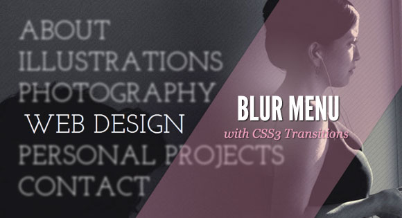 Menú desenfoque con CSS3 Transitions