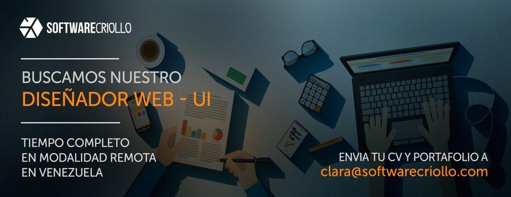 SoftwareCriollo solicita  Diseñadores Web