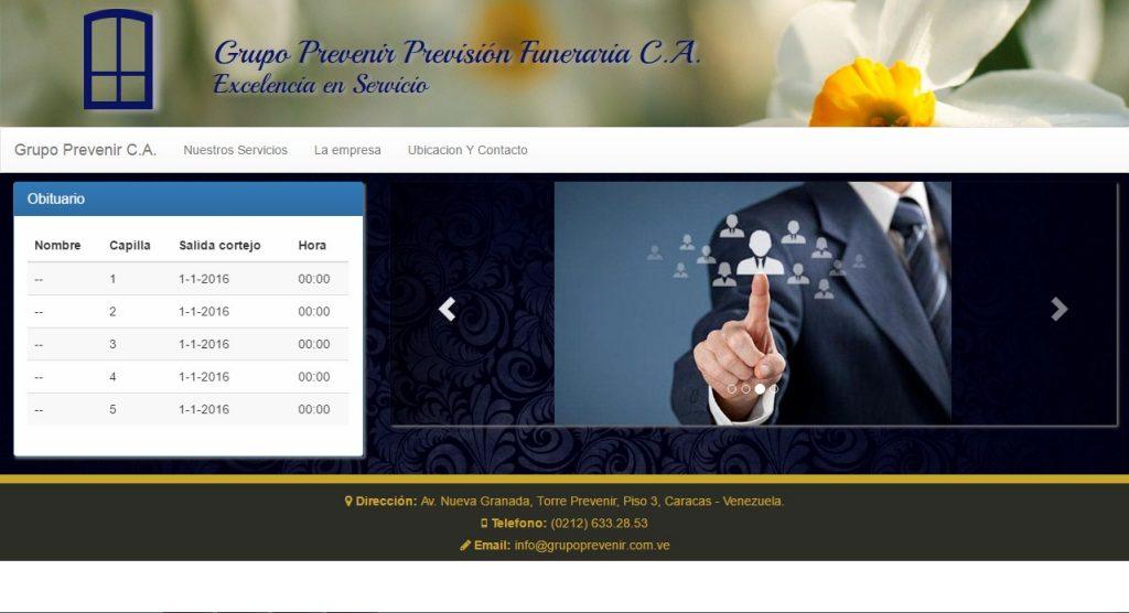 Proyecto: Grupo Prevenir Previsión Funeraria C.A.