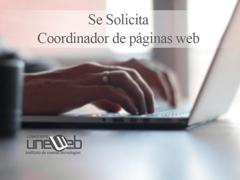 Se Solicita  Coordinador de páginas web