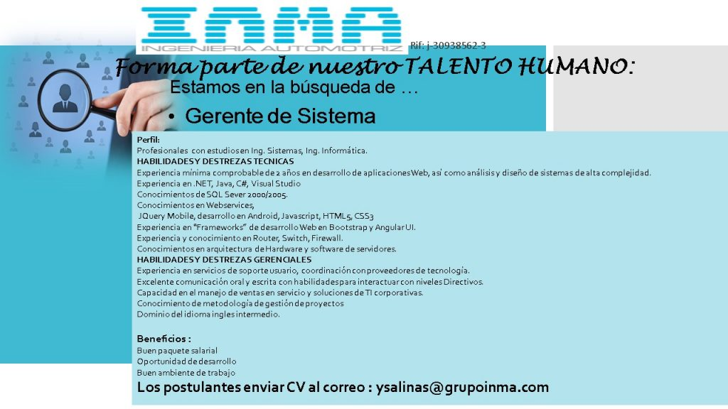 INMA busca candidatos