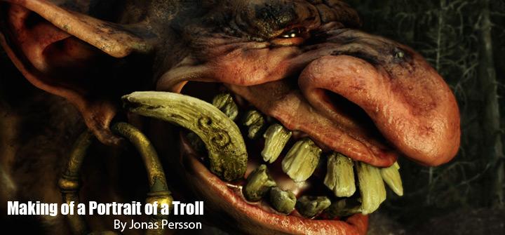 Cómo hacer el retrato de un troll con maya