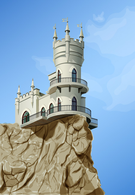 Diseña un Castillo con Adobe Illustrator