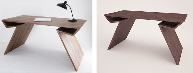 Mesa real y mesa de diseño en 3ds max