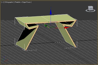 Modelado de mesa en 3ds max