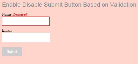Activar botón Enviar basado en la validación