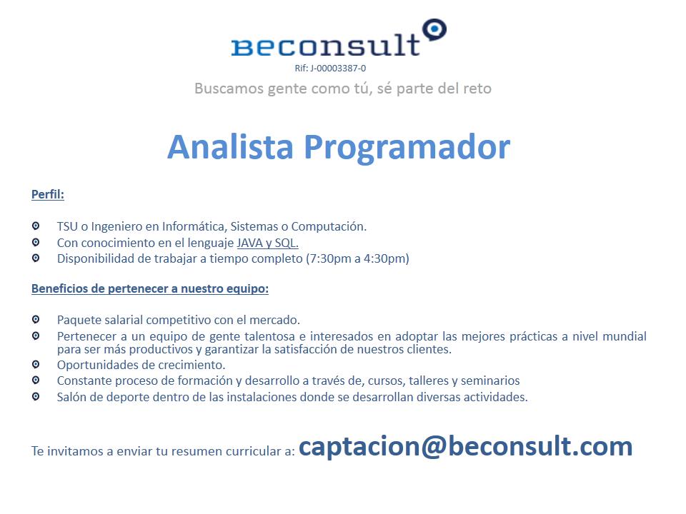 Oferta de Empleo Beconsult