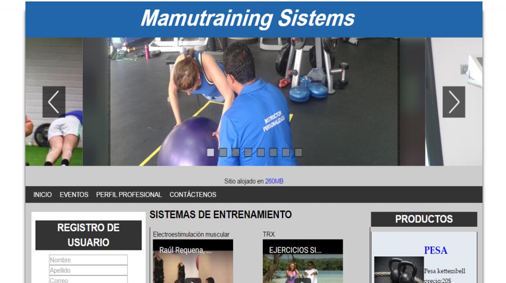 Proyecto: Mamutraining Sistems
