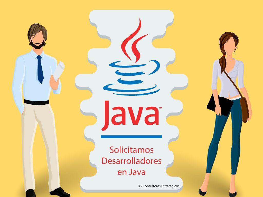 Solicitamos Desarrolladores Java